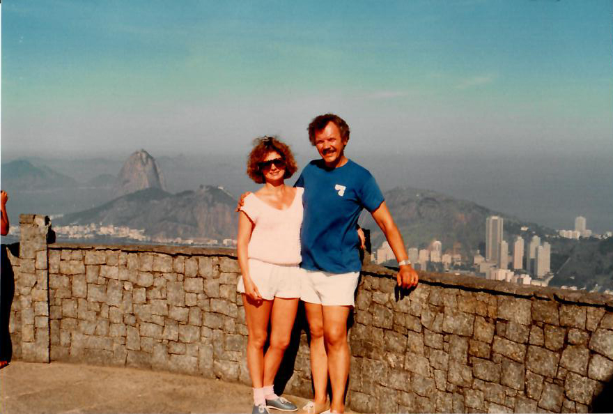 Dad and Peggy in Brazil - Rio