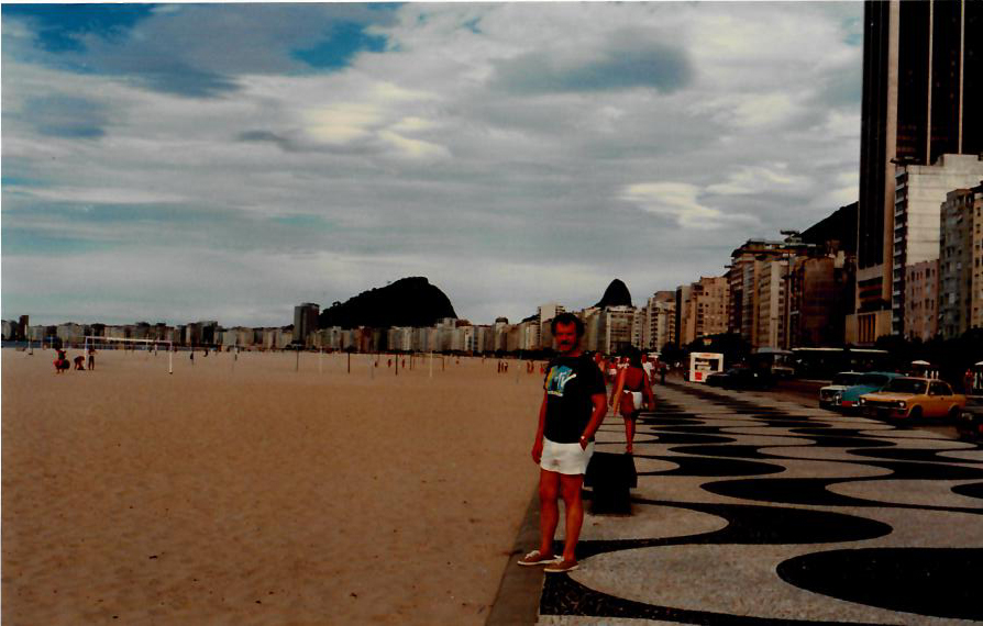 Dad in Brazil (80s) - Copacabana Beach