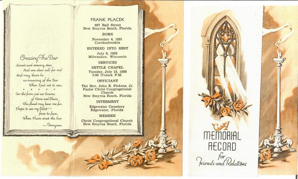 Frank Jr Memorial Record